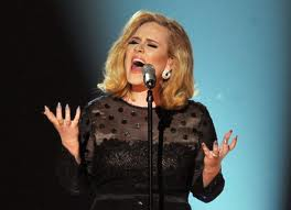 Adele at Grammy's
